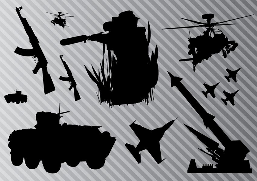 無料でゲット出来る!ベクター画像を紹介シリーズ(銃や戦車や戦闘機など)