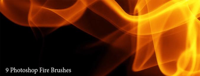 フリーでゆらりと燃える火のブラシ
