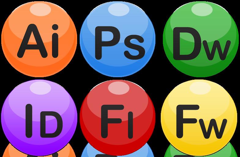 [自作]Adobeのソフトウェアの球体ぽいアイコンを作りました。