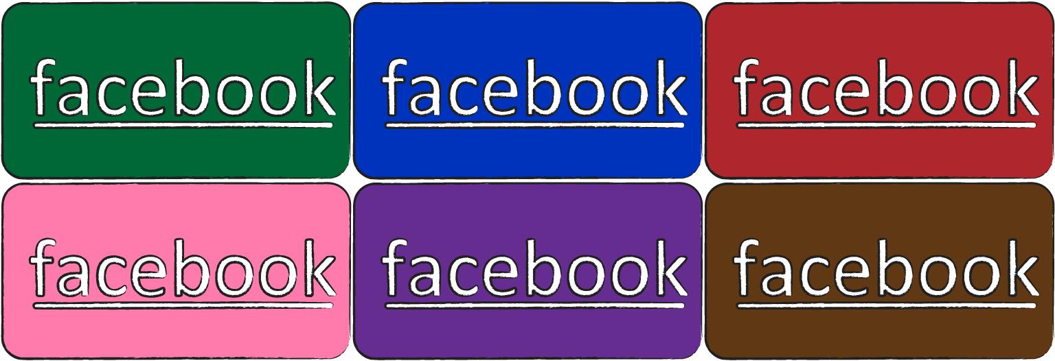 [自作]シンプルなFacebook アイコン[フリー]