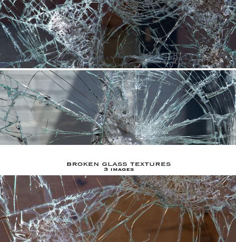割れたガラスのテクスチャ