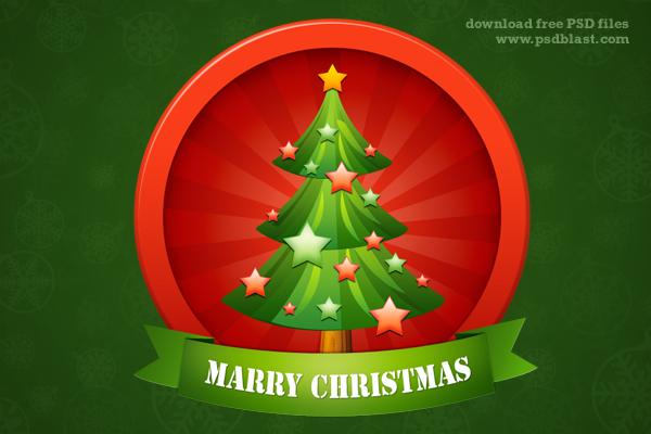 カワイイ!素敵なクリスマスツリーのPSD
