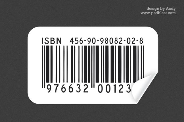 おなじみの商品に付いているバーコードのPsdファイル