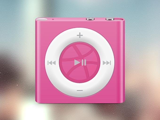 リアルなピンクのiPod ShuffleのPSD