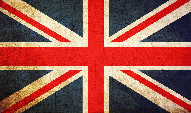 グランジな感じのイギリスや日本などの各国の国旗のテクスチャ