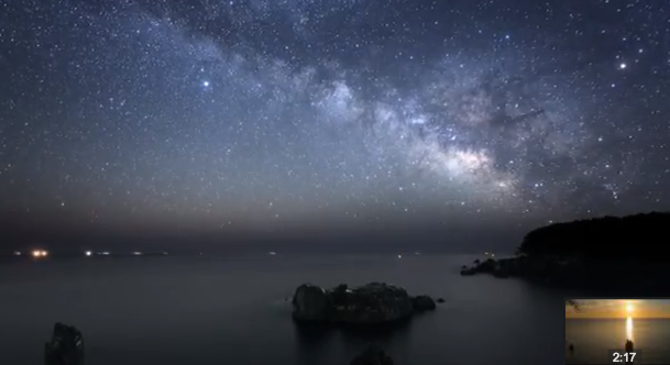 凄い!気仙沼の桑半島の微速度撮影動画!