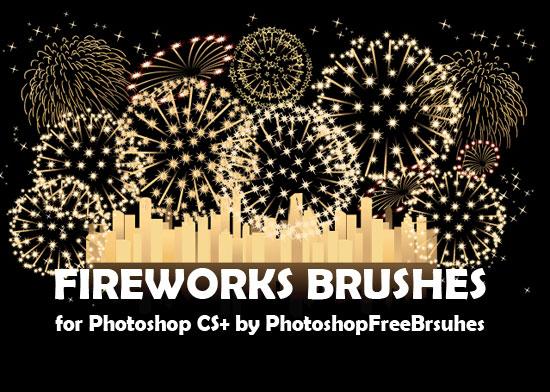 素敵な花火のPhotoshopブラシセット[フリー]