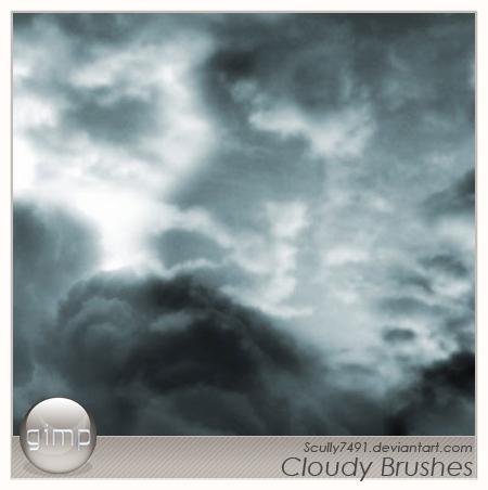 暗雲を表現出来るフリーGimpブラシ