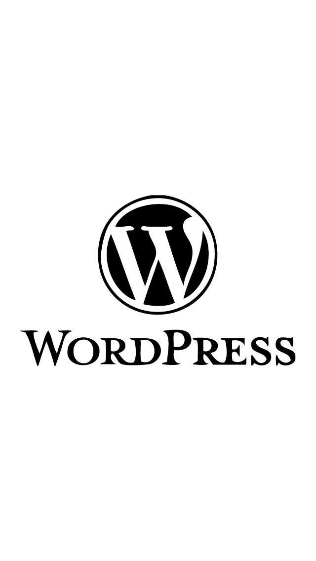 シンプルなWordPressのロゴのiPhone5壁紙