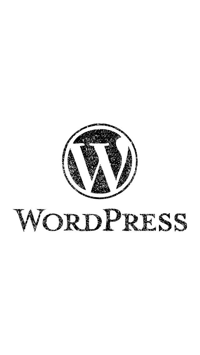 スタンプ風WordPressのiPhone5壁紙