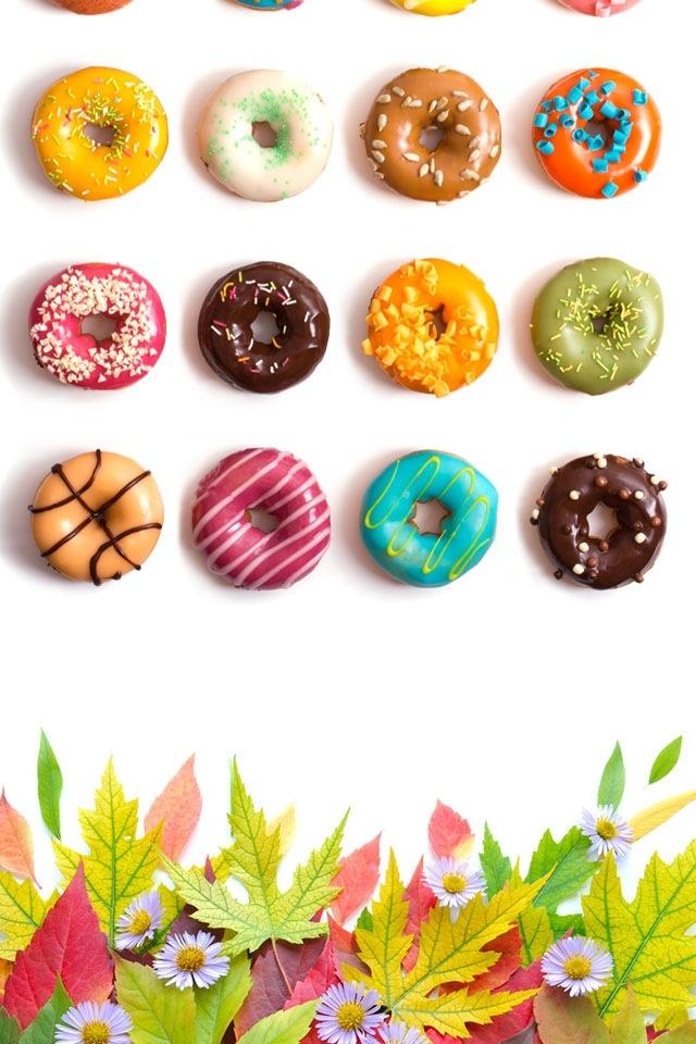 可愛いドーナツのフレームタイプなiPhone5/4S壁紙