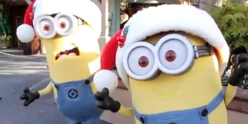ユニバーサルスタジオ・ハリウッドでミニオンのクリスマスグリーティング![動画]