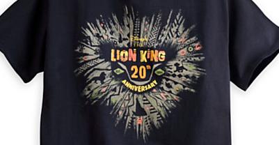 ライオンキング20周年記念Tシャツが発売開始!
