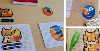 Firefox・フォクすけのアイロンビーズのワークショップ!