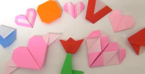 ハートの折り紙の折り方・作り方動画をまとめてみました。