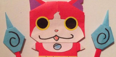 ジバニャンの折り紙が可愛い!折り方も![妖怪ウォッチ]