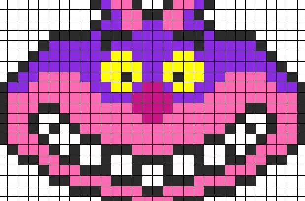チェシャ猫のアイロンビーズ図案や作り方まとめ