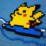 波乗りピカチュウのレゴ作品