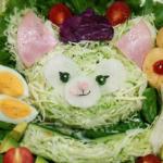 サラダで作ったジェラトーニが可愛すぎる!D☆kaoさん作