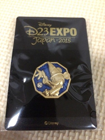 D23 EXPO Japan2015のピンバッジ