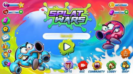 「Splat Wars」タイトル画面