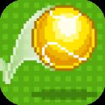 気軽に遊べるテニスゲームアプリ「One tap tennis」のドット絵が良い感じ。