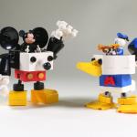 レゴで作られたドナルドロボとミッキーロボが可愛すぎる!