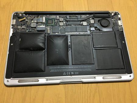Macbook airバッテリー交換前